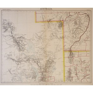 Australia - Sheet III, Eastern Australia - Original antique map, 1885