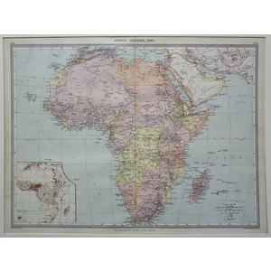 Africa: general map - 1906