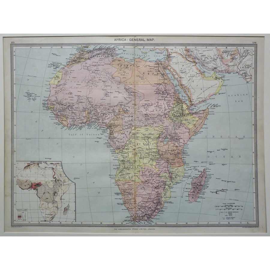Africa: general map - 1906   Storey's
