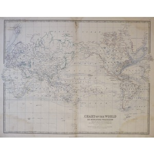 Chart of the World on Mercator's Projection, Showing the direction of the Ocean Currents, with th...