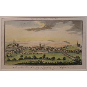 Perspective view of the city of litchfield, in staffordshire