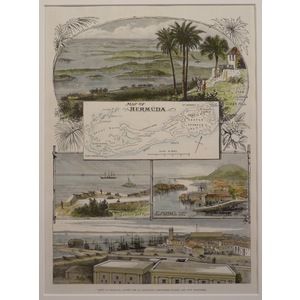 Map of bermuda & views of st georges
