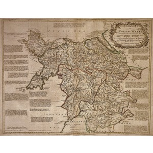 An accurate map of north wales - bowen, 1780