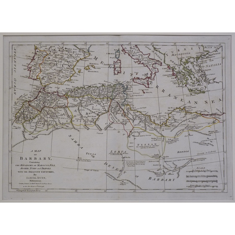 A map of barbary | Storey's