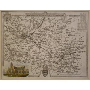 Moule - Thomas. (1785 – 1854 ) Environs of bath and bristol . Original antique map published for ...