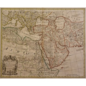 A map of turky, arabia and persia - j. Senex, 1721