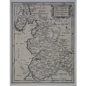 The county palatine of lancaster - moll, 1711