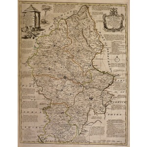 An accurate map of the county of stafford - bowen, 1780