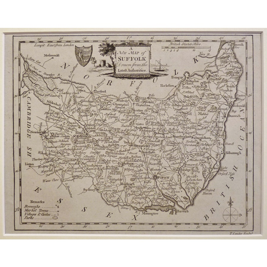 A new map of suffolk | Storey's