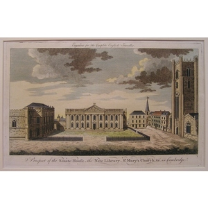 Prospect of the senate-house, the new library, st. Marys church, &c in cambridge