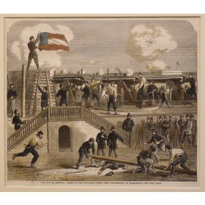 The war in america: scene at fort moultrie during the bombardment of charleston