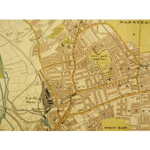 Stanfords Map of the County of London - SHEET 12 - Chelsea, Fulham, Battersea, Wandsworth
