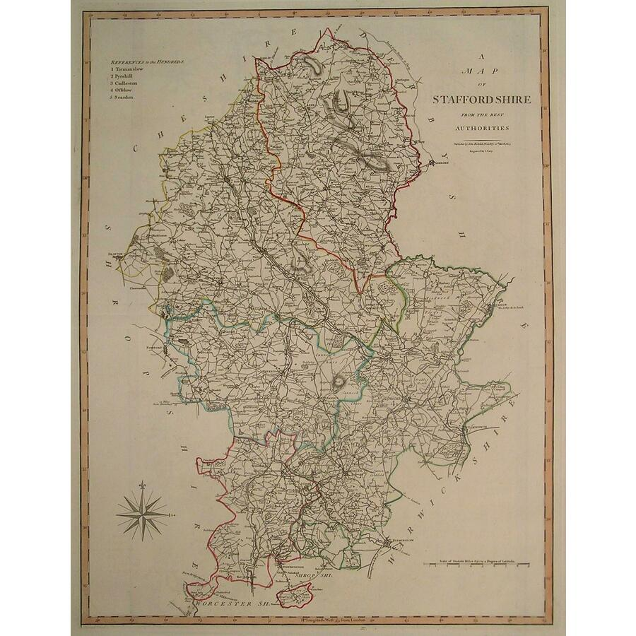 A map of staffordshire | Storey's