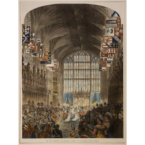 The royal wedding: the marriage ceremony in st. Georges chapel, windsor