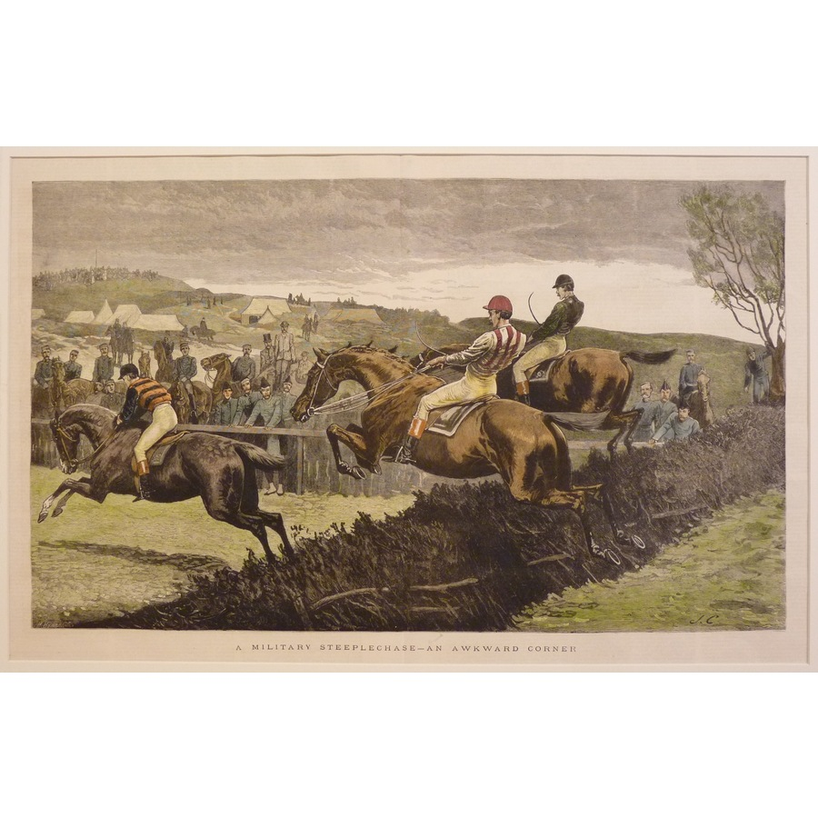 A military steeplechase - an . | Storey's