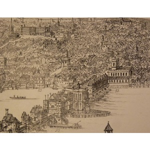 London, westminster and southwark as they appeared a.D. 1543