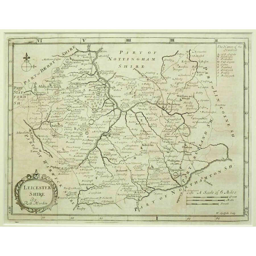 Leicestershire - h. Moll, 1711   Storey's