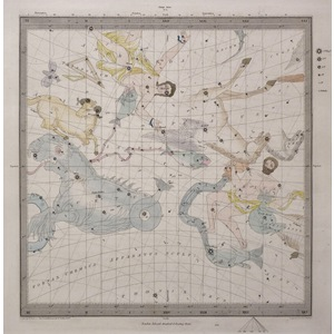 The Constellations - Set of 6 original hand coloured antique maps. Engraved by J and C Walker aft...