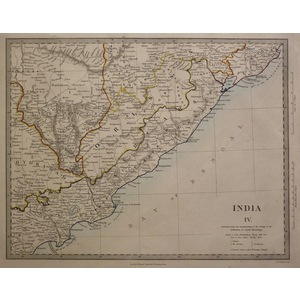 India - sheet iv - east coast - sduk, 1874