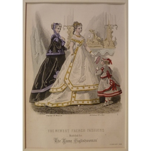 The newest french fashions - plate 2, february 1868