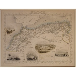 Northern Africa - Original Antique Map, 1851. Published By John Tallis. With Original Hand-Colour...