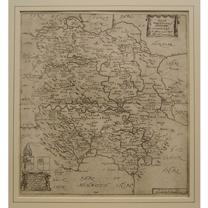 A general map of the county of hereford - r. Blome