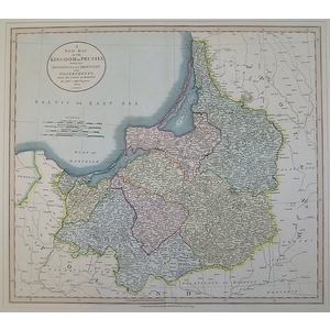 A new map of the kingdom of prussia with its provinces and governments