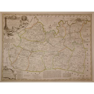An accurate map of the county of surrey - bowen, 1780