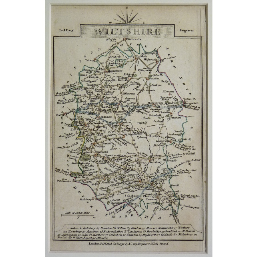 Wiltshire - cary, 1792 | Storey's