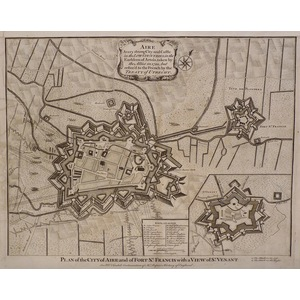 Plan of the city of aire and of fort st. Francis with a view of st. Venant