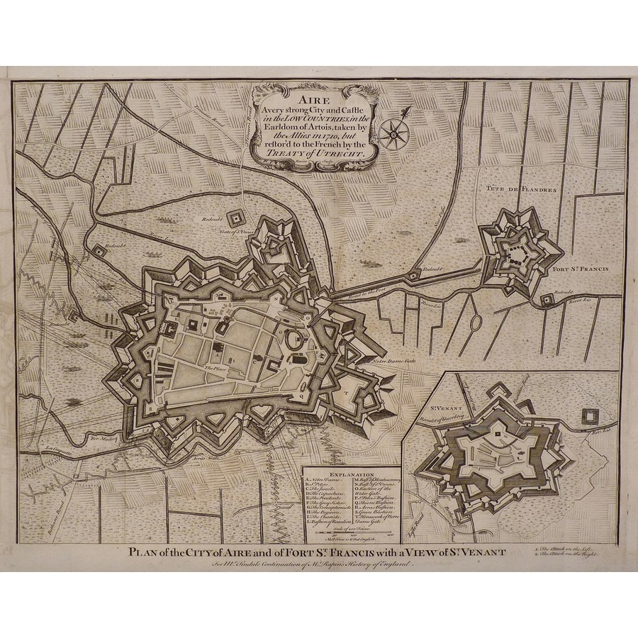 Plan of the city of aire and . | Storey's