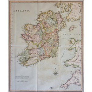 Ireland - Original antique map by Henry Teesdale, 1851