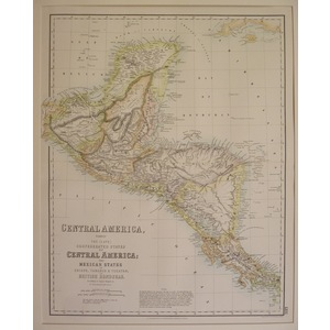 Central america the mexican states, chiapa, tabasco, yucata, british honduras