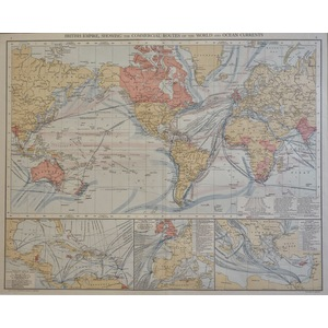 British Empire, Showing the Commercial Routes of the World and Ocean Currents