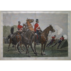 Yeomanry cavalry competition for the  cup at wimbledon
