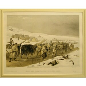 Huts and warm clothing for the army
