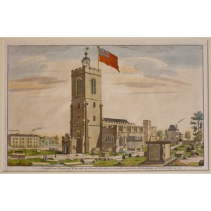 A south west prospect of st dunstons church at stepney