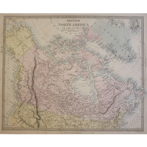 British North America - Original antique map. Engraved by J and C Walker. Published by Edward Sta...
