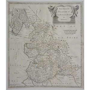 Lancashire - the county palatine of lancaster - morden, 1772