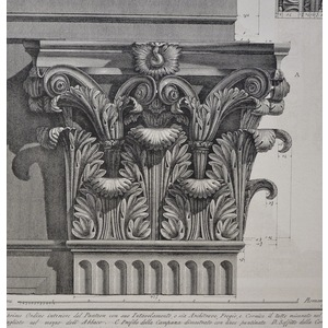 Large modinature of the first order of the interior of the Pantheon