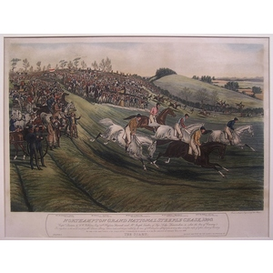 Northhampton grand national steeple chase, 1840  -  the start