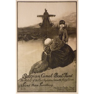 Belgium canal boat fund - for relief of the civil population behind the firing lines