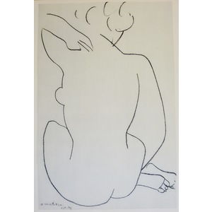 Matisse , Henri - Nude seated. Original heliogravure published in 1958 by Teriade for Verve Magaz...
