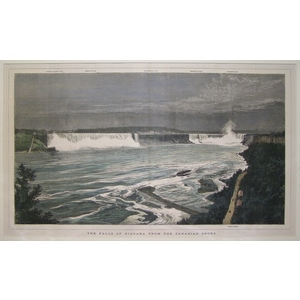 The falls of niagara from the canadian shore