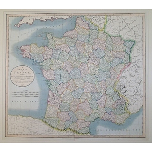 A New Map of France Divided into Departments as Decreed by the National Assembly, 1790 According ...