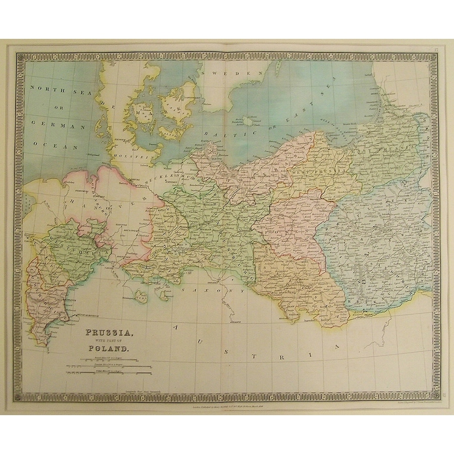 Prussia with part of poland -. | Storey's