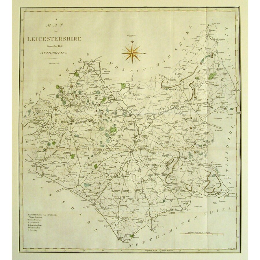 Leicestershire - Cary, 1789 | Storey's