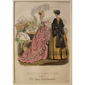 The newest french fashions - plate 7, july 1868