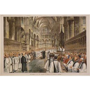 Enthronement of the new archbishop of canterbury cathedral
