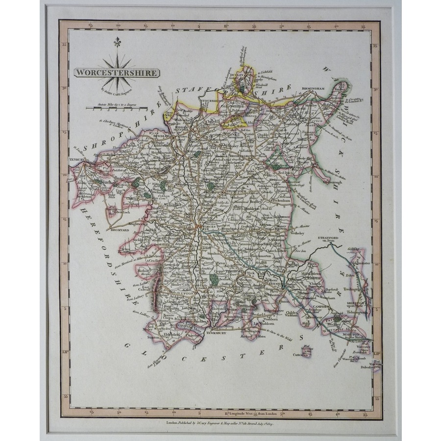 Worcestershire - cary, 1809   Storey's